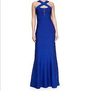 Hervé Leger Blue Sapphire Dress